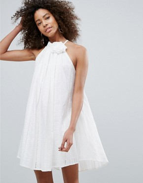 photo Corsage Dress by Traffic People, color White - Image 1
