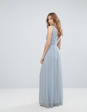 photo Beach Maxi Dress Tie Detail by Traffic People, color Blue - Image 2