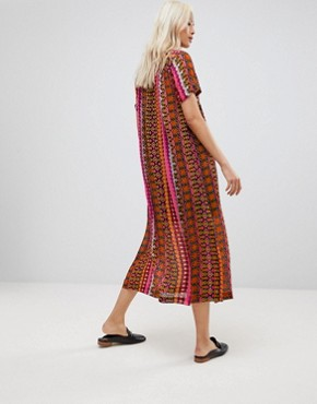 photo Printed Maxi Shirt Dress by Maison Scotch, color Multi - Image 2