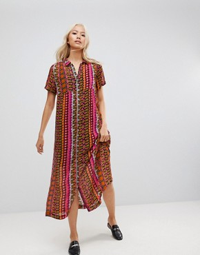 photo Printed Maxi Shirt Dress by Maison Scotch, color Multi - Image 1