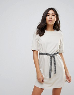 photo Belted Shift Dress by Vero Moda, color Oatmeal - Image 1