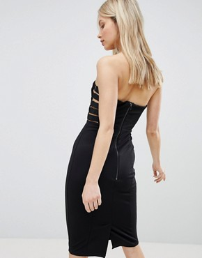 photo Strapless Pencil Dress by QED London, color Black - Image 2