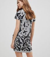 photo Bird Printed Tunic Dress by QED London, color Grey - Image 2
