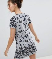 photo Butterfly Printed Tunic Dress by QED London, color Grey - Image 2