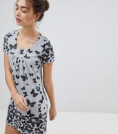 photo Butterfly Printed Tunic Dress by QED London, color Grey - Image 1