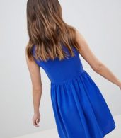 photo Skater Dress with Embellished Detail by QED London, color Royalblue - Image 2