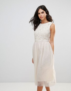 photo Lisa Lace Maxi Dress by French Connection, color Classic Cream - Image 1