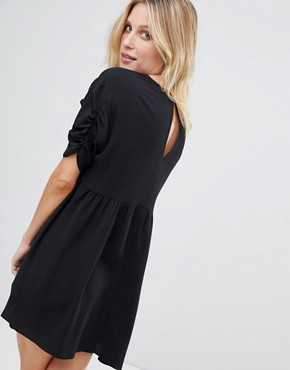 photo Smock Mini Dress by ASOS, color Black - Image 2