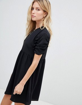 photo Smock Mini Dress by ASOS, color Black - Image 1