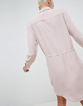 photo Shirt Dress by MbyM, color Lilac Shadow - Image 2