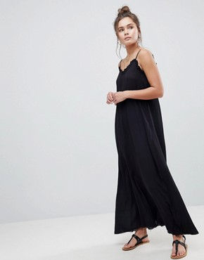photo Scoop Back Maxi Dress in Crinkle by ASOS, color Black - Image 1