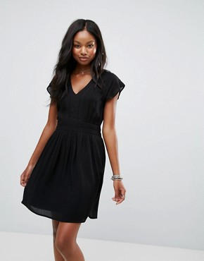 photo Lace Insert Dress by Vero Moda, color Black Beauty - Image 1