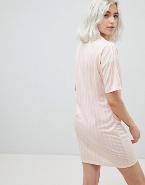 photo Three Stripe Dress in Pink by adidas Originals, color Pink - Image 2