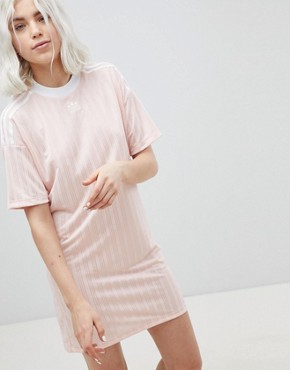 photo Three Stripe Dress in Pink by adidas Originals, color Pink - Image 1
