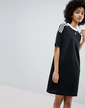 photo Adicolor Three Stripe Dress in Black by adidas Originals, color Black - Image 1
