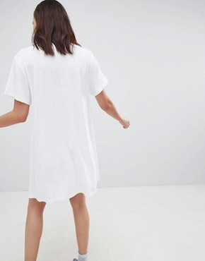 photo Make Some Noise Tee Dress by House of Holland, color White - Image 2