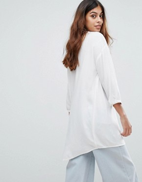 photo Embroidered Tunic Dress by Vero Moda, color Snow White - Image 2