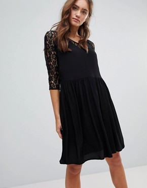 photo Lace A-Line Midi Dress by Pepe Jeans, color Black - Image 1