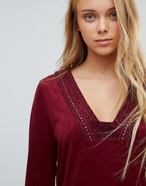 photo Bohemian Rhapsody Tunic Dress by Pepe Jeans, color Light Burgundy - Image 2