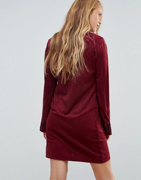 photo Bohemian Rhapsody Tunic Dress by Pepe Jeans, color Light Burgundy - Image 3