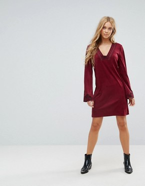 photo Bohemian Rhapsody Tunic Dress by Pepe Jeans, color Light Burgundy - Image 4