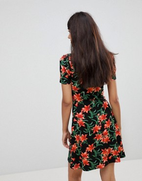 photo Mini Tea Dress in Floral Print by ASOS TALL ULTIMATE, color Multi - Image 2