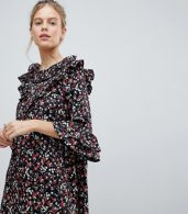 photo Frill Sleeve Floral Shift Dress by Influence, color Multi - Image 3