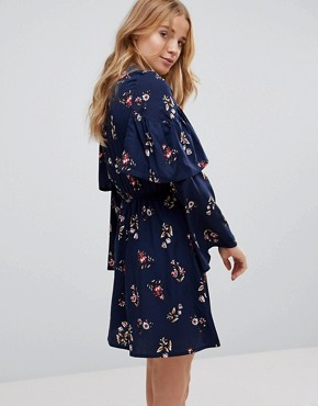 photo Frill Keyhole Front Floral Dress by Influence, color Multi - Image 2