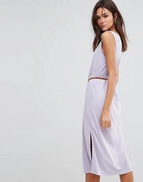 photo Maxi Dress with Belt by Pussycat London, color Lilac - Image 2