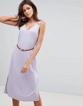 photo Maxi Dress with Belt by Pussycat London, color Lilac - Image 1