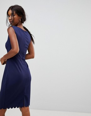 photo Ponte Shift Dress by Sugarhill Boutique, color Navy - Image 2