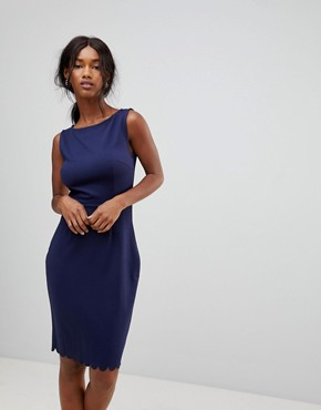 photo Ponte Shift Dress by Sugarhill Boutique, color Navy - Image 1