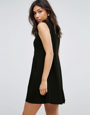 photo Rose Embroidered Skater Dress by Hell Bunny, color Black - Image 2
