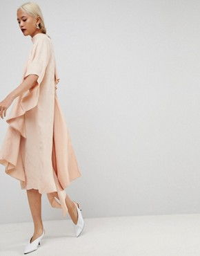 photo Square Panel Soft Midi Dress by ASOS WHITE, color Nude - Image 1