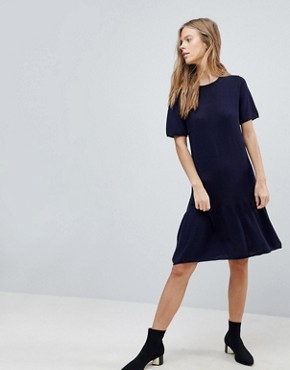 photo Swing Knit Dress by Vila, color Total Eclipse - Image 1