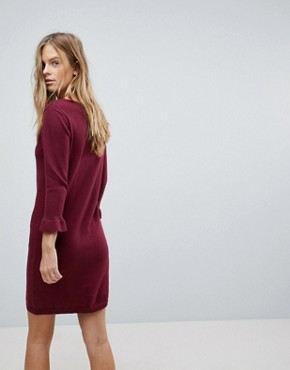 photo Jumper Dress with Fluted Sleeve by Vila, color Cabernet - Image 2