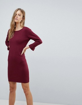 photo Jumper Dress with Fluted Sleeve by Vila, color Cabernet - Image 1