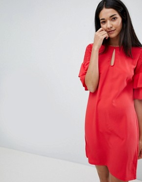 photo Keyhole Dress with Tiered Sleeve by Vila, color Lollipop - Image 1
