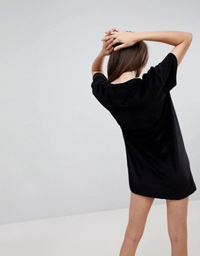 photo Casette Print Velour Dress by Uncivilised, color Black - Image 2