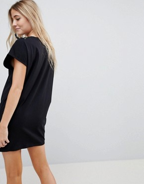 photo Lace Up Side Jersey Sweat Dress by Uncivilised, color Black - Image 2