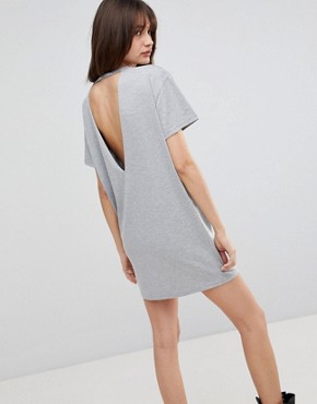 photo Santa Cruz Print Open Back T-Shirt Dress by Uncivilised, color Grey Marl - Image 2