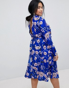 photo Bright Floral High Neck Midi Dress by ASOS CURVE, color Floral - Image 2
