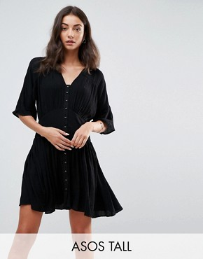 photo Casual Tea Dress by ASOS TALL, color Black - Image 1