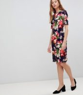 photo All Over Floral Pencil Dress by Paper Dolls, color Multi - Image 4