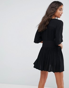 photo Casual Mini Tea Dress by ASOS, color Black - Image 2