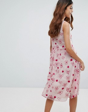 photo Printed Skater Dress by Vero Moda, color Pink - Image 2