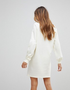 photo Embroidered Sweater Dress by Vero Moda, color Winter White - Image 2