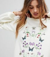 photo Embroidered Sweater Dress by Vero Moda, color Winter White - Image 3