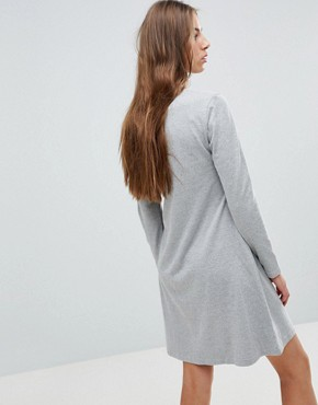 photo Print Front T-Shirt Dress by Kubban Tall, color Grey - Image 2