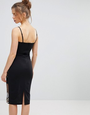 photo Embroidered Mesh Cami Dress by Parisian, color Black - Image 2